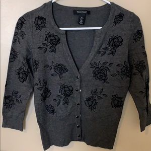 White house black market cardigan top